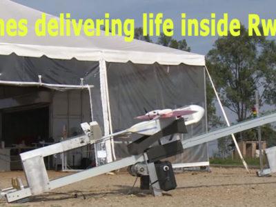 Drones delivering life inside Rwanda
